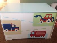 Kids wooden storage box 23cm by 15cm and the height is 16cm. Ideal for young boys bedroom.