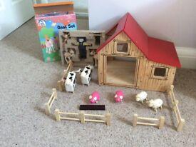 John lewis farm and elc goat set