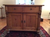 Antique pine sideboard/dresser base for sale.