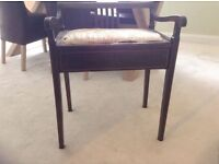 Piano Stool - upholstery and woodwork needs restoring - project for someone