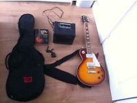 Electric guitar with extras great gift for Christmas !