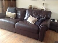 2 X soft leather sofas in excellent condition. 3 seater but room for 4. Bought from Fishpools