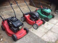 3 X Lawnmower - Petrol Mower X 3