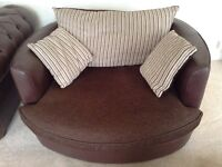 3 Seater & 2 Seater Swivel Snuggle Chair