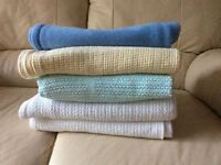Cot bed blankets