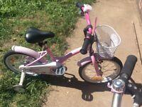 Kids bike pink start bike