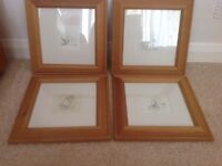winnie the pooh framed pictures E H Shepherd Pencil drawings Set of Four
