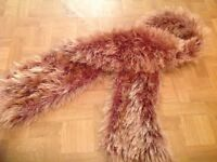 BROWN FLUFFY SCARF. USED, EXCELLENT CONDITION.