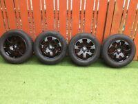 4x Alloy Wheels (Black) 195/65/15