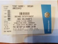 Noel Gallagher in Swansea today. 1 ticket