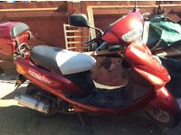 Here I have a 50cc registered but it has a 100 kit on it