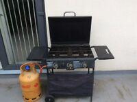 BBG Gas 3 Burner with Gas Bottle