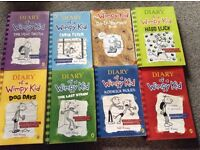 Diary of a Wimpy Kid Books x 8