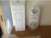 Wall mounted shabby chic bottle opener