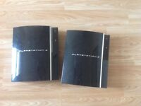 Sony PS3 x2 spares and repairs one with hardrive one without