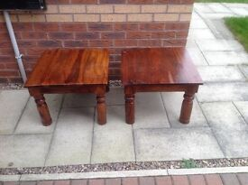 Pair of square tables
