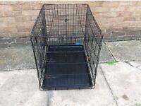 Medium size dog cage with tray
