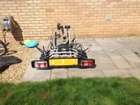 Witter ZX304 towbar mounted 4 bike cycle carrier with quad locking knobs