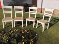 Upcycled kitchen or dining room chairs