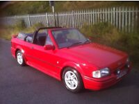ford escort xr3i cabriolet 93000 miles from new full mot recent service call for more details