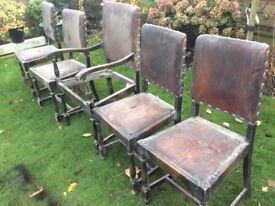 Antique chairs that need work, solid and sturdy though