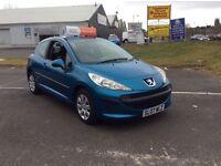 Peugeot 207 s, 2007, Full Year MOT, 3 Months RAC Warranty. 1.4 petrol.