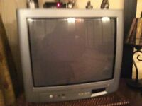 """17"""" Phillips TV with Bush freeview box and remote control"""