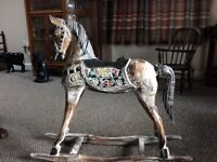 Wooden painted Rocking Horse, would look great in any room.