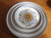 """Original Langley stoneware pottery """"Chatsworth"""" design. 3 sizes of plate available. Vintage original"""