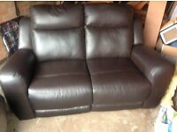 Leather two seater leather sofa