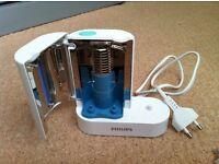 Philips Sonicare Charger and UV Brush Sanitizer Base HX6160 UK