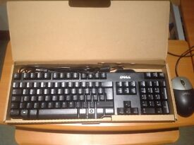 Brand new unused boxed Dell Keyboard & mouse