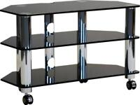 Optimum Fusion LCD-8004-SLB Glass TV Stand