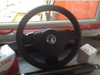 Vauxhall Zafira Design 13 plate steering wheel with airbag.