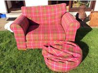 Next tartan snuggle chair with matching beanbag