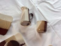 Pottery style coffee cups