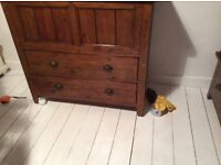 Chest and 2 drawers with lift up lid (Irish collection)