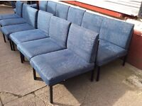 Office reception lounge chairs x 12