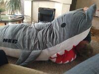 "Unique ""MEG"" shark sleeping bag."