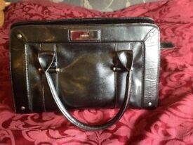 Calvin Kline big bag moc croc black like new stain inside may wash out,not used silver logo