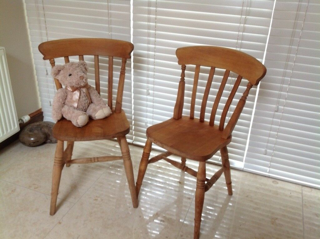 Chunky pine chairs(pair) will split