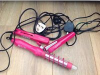 Hair curlers, crimpers and straighners