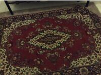 """lovely patterned rug for use around the house 65""""x47"""""""