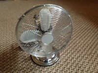 Desk Fan - 12 inch Chrome
