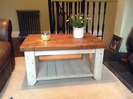 NEW HANDMADE RECLAIM COFFEE TABLE (SHABBY CHIC)