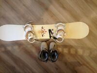 Ladies Burton Troop 151 Snowboard with Boots and case