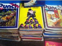 100+ PUNCH magazines 1970's (£4 each on eBay