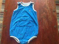 Baby Gap blue towelling romper suit. Age 3-6 months