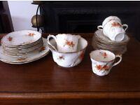 Vintage Poppy China Tea Set Incomplete but Charming Teacups Sugar Bowl Jug Plates / Can Deliver