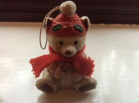 Christmas Teddy Bear Decoration - cute and even chimes too (see both photos)